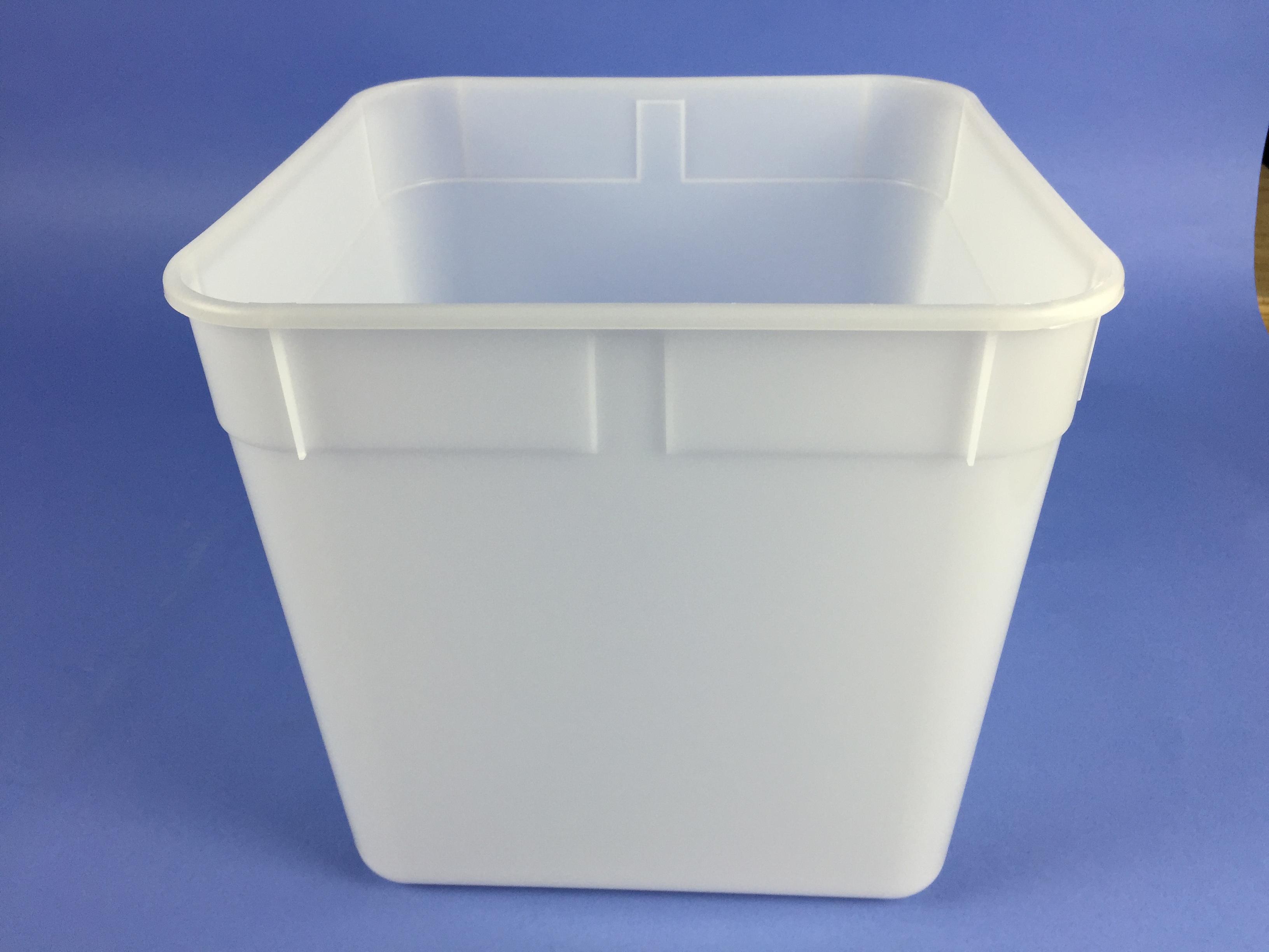 PC10SQ - 10 Litre Square Ice cream Container - Bristol Plastics & Containers - Plastic Bottles
