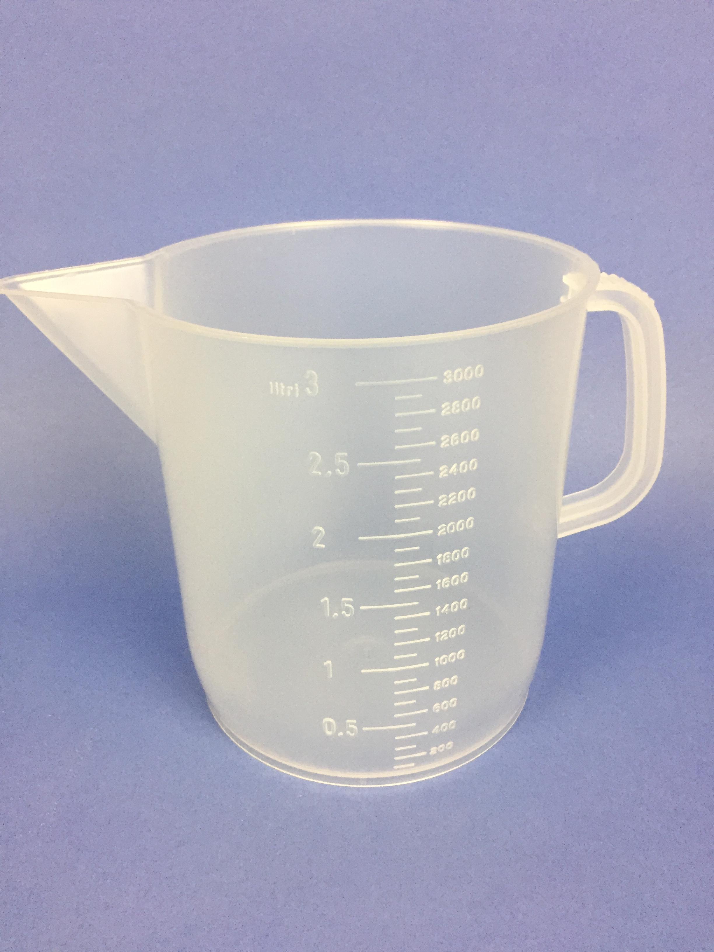 Measuring Jug 3 Litre Natural Mj3000 Bristol Plastics